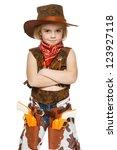 Little Girl Wearing Cowboy...