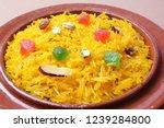 zarda rice  closeup of indian... | Shutterstock . vector #1239284800