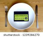 food hygiene rating 5. dinner... | Shutterstock . vector #1239286270