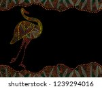 the emu is the largest bird... | Shutterstock . vector #1239294016