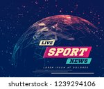 live sport news can be used as...   Shutterstock .eps vector #1239294106