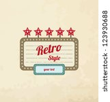 retro motel sign. vector | Shutterstock .eps vector #123930688
