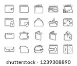 wallet icon set. included the... | Shutterstock .eps vector #1239308890