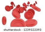 blood cells 3d illustration | Shutterstock . vector #1239322393