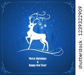 new year and christmas greeting ... | Shutterstock .eps vector #1239322909