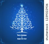 greeting card with stylized... | Shutterstock .eps vector #1239322936