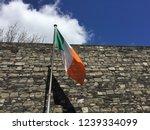 Stock photo irish flag flying in the wine in kilmainham gaol in dublin ireland 1239334099