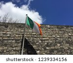 Stock photo irish flag flying in the wine in kilmainham gaol in dublin ireland 1239334156