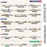 largest cities skylines of... | Shutterstock .eps vector #1239341179
