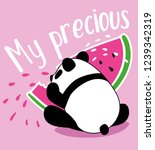 cute panda always loves... | Shutterstock .eps vector #1239342319