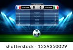 soccer football stadium... | Shutterstock .eps vector #1239350029