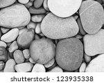 Sea Stones Black And White...