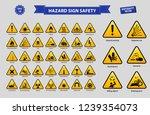 Set Of Hazard Sign Safety ...