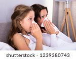 mother and daughter suffering... | Shutterstock . vector #1239380743