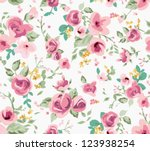 seamless spring cute tiny vintage floral ,flower pattern background