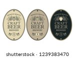collection of beer labels in... | Shutterstock .eps vector #1239383470