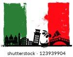 illustration of the italy flag... | Shutterstock .eps vector #123939904