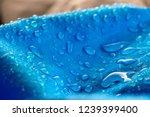 water drops on waterproof blue... | Shutterstock . vector #1239399400