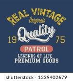 denim qualityvarsity print | Shutterstock .eps vector #1239402679
