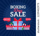 happy boxing day sale design... | Shutterstock .eps vector #1239402973