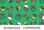 handdrawn christmas... | Shutterstock .eps vector #1239404656