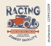 vintage racing hot rod t shirt... | Shutterstock .eps vector #1239413209