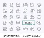 sleeping related thin line icon ...   Shutterstock .eps vector #1239418660
