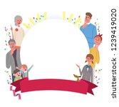 family frame ribbon... | Shutterstock .eps vector #1239419020