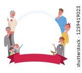 family frame ribbon... | Shutterstock .eps vector #1239419023
