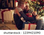 couple hugging by shinny... | Shutterstock . vector #1239421090