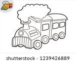 black and white line art train  ... | Shutterstock .eps vector #1239426889