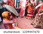 barsana  india   february 24 ... | Shutterstock . vector #1239447670