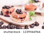 homemade blueberry muffins made ... | Shutterstock . vector #1239466966