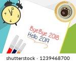 bye bye 2018   hello 2019 plan...   Shutterstock .eps vector #1239468700