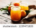 homemade jam with sweet...   Shutterstock . vector #1239471820