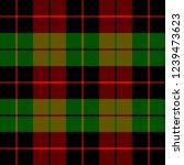 christmas and new year tartan... | Shutterstock .eps vector #1239473623