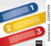 three labels banners.eps10 | Shutterstock .eps vector #123947404