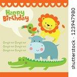 happy birthday card design.... | Shutterstock .eps vector #123947980