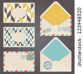 vector postal collection.... | Shutterstock .eps vector #123948520