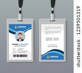 elegant office id card design... | Shutterstock .eps vector #1239501319
