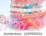 orthodontic model and dentist...   Shutterstock . vector #1239505216