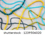 retro style colorful necklaces... | Shutterstock . vector #1239506020