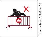 do not climbing steel traffic...   Shutterstock .eps vector #1239506716