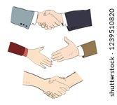 realistic handshake of business ... | Shutterstock .eps vector #1239510820