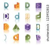 huge vector icon symbol set... | Shutterstock .eps vector #123952813