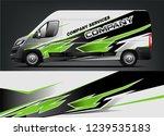 van wrap design for company ... | Shutterstock .eps vector #1239535183