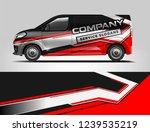 van wrap design for company ... | Shutterstock .eps vector #1239535219
