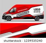 van wrap design for company ... | Shutterstock .eps vector #1239535240