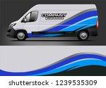 van wrap design for company ... | Shutterstock .eps vector #1239535309