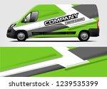 van wrap design for company ...   Shutterstock .eps vector #1239535399